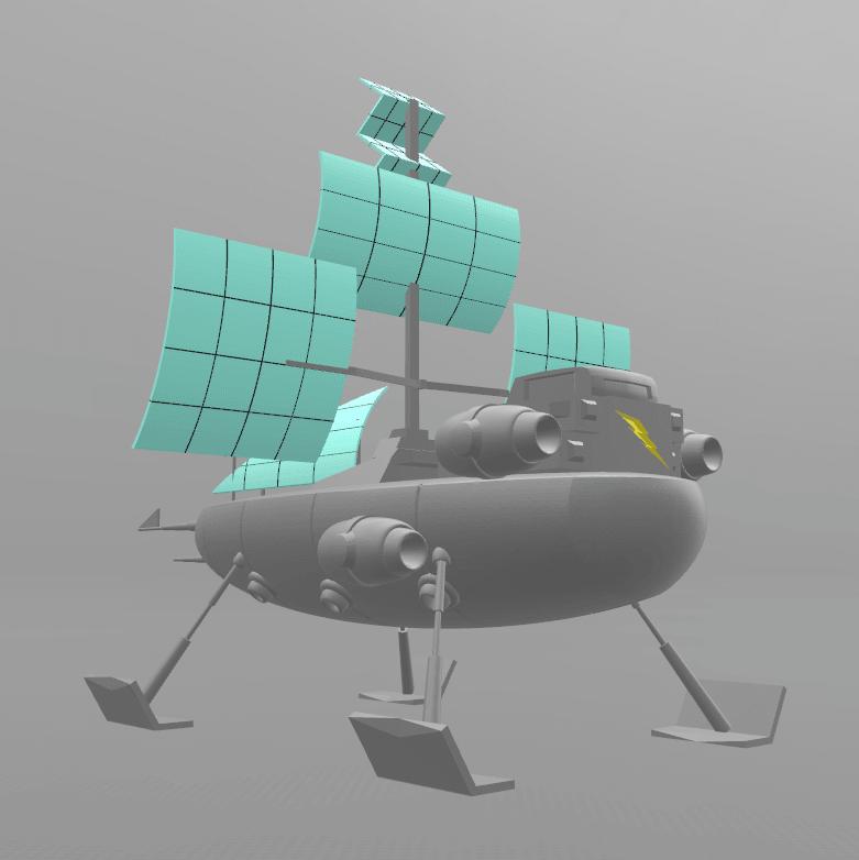 "2.png Download free STL file Jayce ""Herc's ship"" • 3D print model, psl"