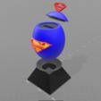 "2.png Download free STL file ""Superman egg"" piggy bank • 3D print template, psl"
