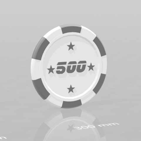 Jeton star 500.png Download free STL file Star poker chips • Template to 3D print, psl