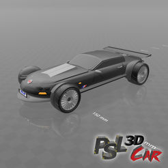 "Download free 3D printer designs Psl 3D car N°1 ""sport luxe"", psl"