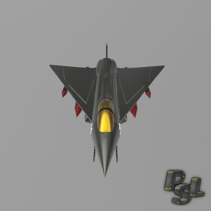 2.jpg Download free STL file Fighter aircraft 11 • Object to 3D print, psl