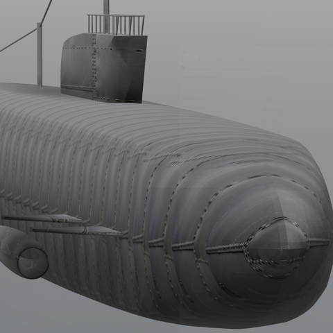 Free 3D printer file Submarine, psl