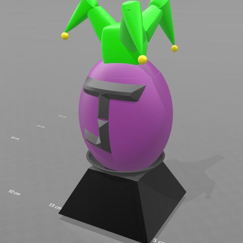 "4.png Download free STL file Piggy bank ""joker egg"" • Template to 3D print, psl"