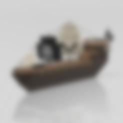 Free STL Pirate ship, psl