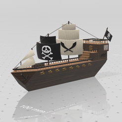Download free STL files Pirate ship, psl