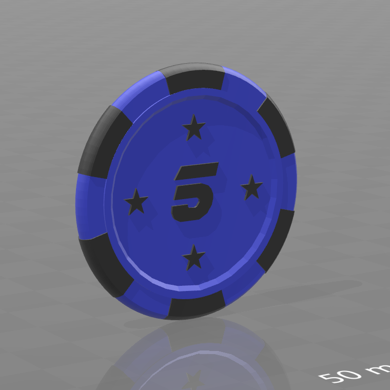 Jeton star 5.png Download free STL file Star poker chips • Template to 3D print, psl
