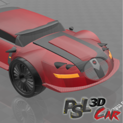 """Free STL Psl 3D car N°3 """"Median"""", psl"""