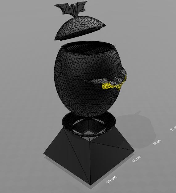 "4.png Download free STL file ""Batman egg"" piggy bank • 3D printing model, psl"