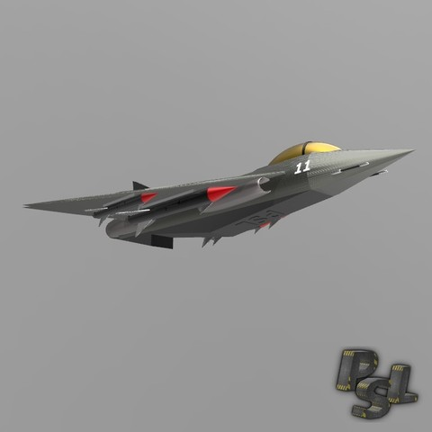 3.jpg Download free STL file Fighter aircraft 11 • Object to 3D print, psl