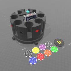 Free 3D printer designs rotating poker carousel, psl