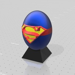 Free 3D print files Superman superhero eggs, psl