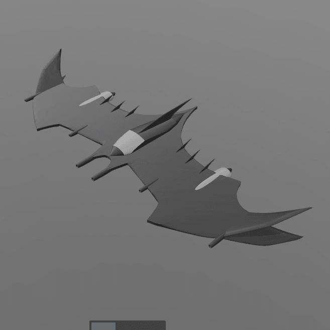2.png Download free STL file Batman fly • 3D printable object, psl