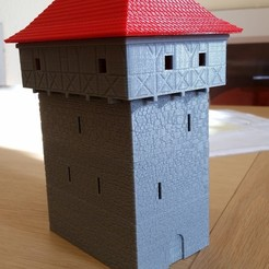 STL files Medieval Tower, 3decors