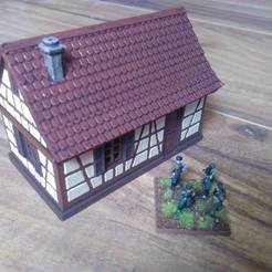 Download STL file Small timbered house • 3D printer model, 3decors