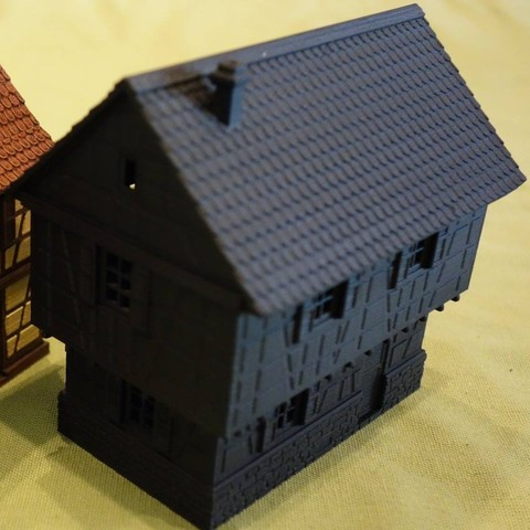 3D print files Small timbered house variant, 3decors