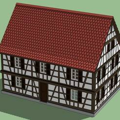 STL Big timbered house, 3decors