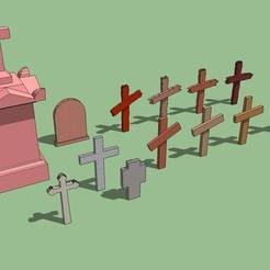 3D print files Tombstones, 3decors