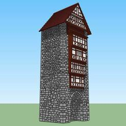 3D print model Medieval Tower # 2, 3decors