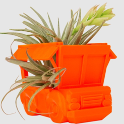 Free 3d printer designs Truck Planter, LetsCreate3D