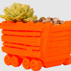 Free 3d printer model Wagon Planter, LetsCreate3D