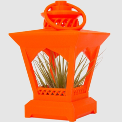 Free 3d printer model Lantern Planter, LetsCreate3D