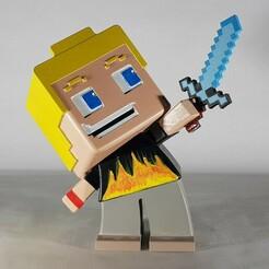 1.jpg Download STL file Minecraft figurine • 3D print template, echo-creation