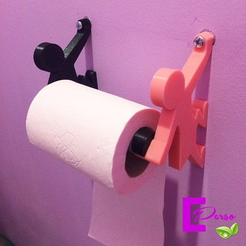 Download free 3D printing designs dispenser for toilet paper, echo-creation