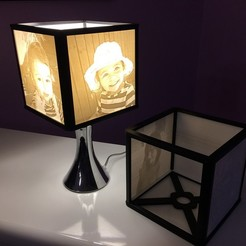Download free 3D printing designs lithophane lampshade, echo-creation