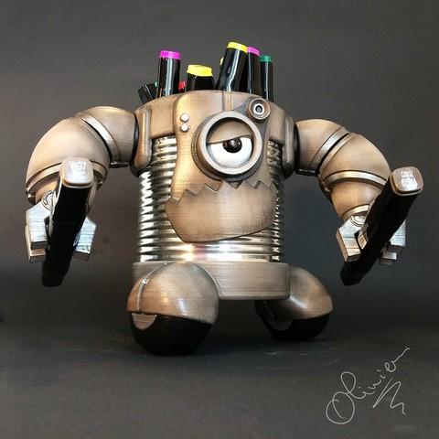 Modèle 3D figurine boite à crayons, cperso
