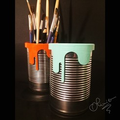 Download free STL file pencil tin • 3D printable object, echo-creation