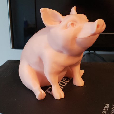 Download free STL file Piggy Sitting(Sir Pigglesfree): single extrusion version, Woester3D