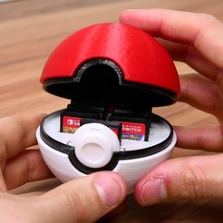 Objet 3D gratuit Pokeball Switch Cartridge Case, Kickass3DPrints