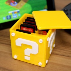 Download free 3D printing templates Question Block Switch Cartridge Case, Kickass3DPrints