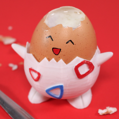 Imprimir en 3D gratis Pokemon Togepi Egg Cup, Kickass3DPrints
