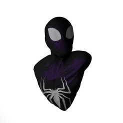 Download 3D printing designs black suit Spiderman bust, ColtonJamesBallow