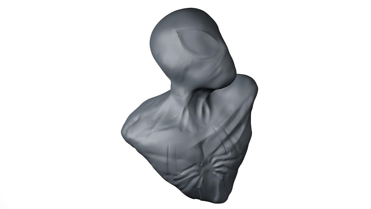 4.jpg Download STL file black suit Spiderman bust • 3D print object, ColtonJamesBallow