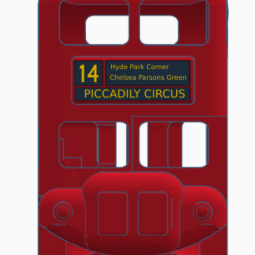 FOR-COLOR-PAPER-PRINT-FRONT.png Download free STL file London Bus Doubledeck Routemaster desk organizer (Boite à crayon bus anglais) • 3D printing object, Martymcflay