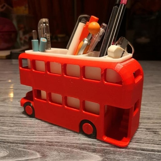 busback.jpg Download free STL file London Bus Doubledeck Routemaster desk organizer (Boite à crayon bus anglais) • 3D printing object, Martymcflay