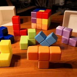 Download free STL file BIG SOMA CUBE PUZZLE GAME • 3D printer model, Martymcflay