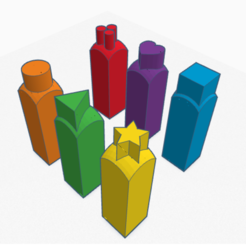 stamps.PNG Télécharger fichier STL gratuit Série de mini timbres pour les enfants • Design pour impression 3D, Martymcflay
