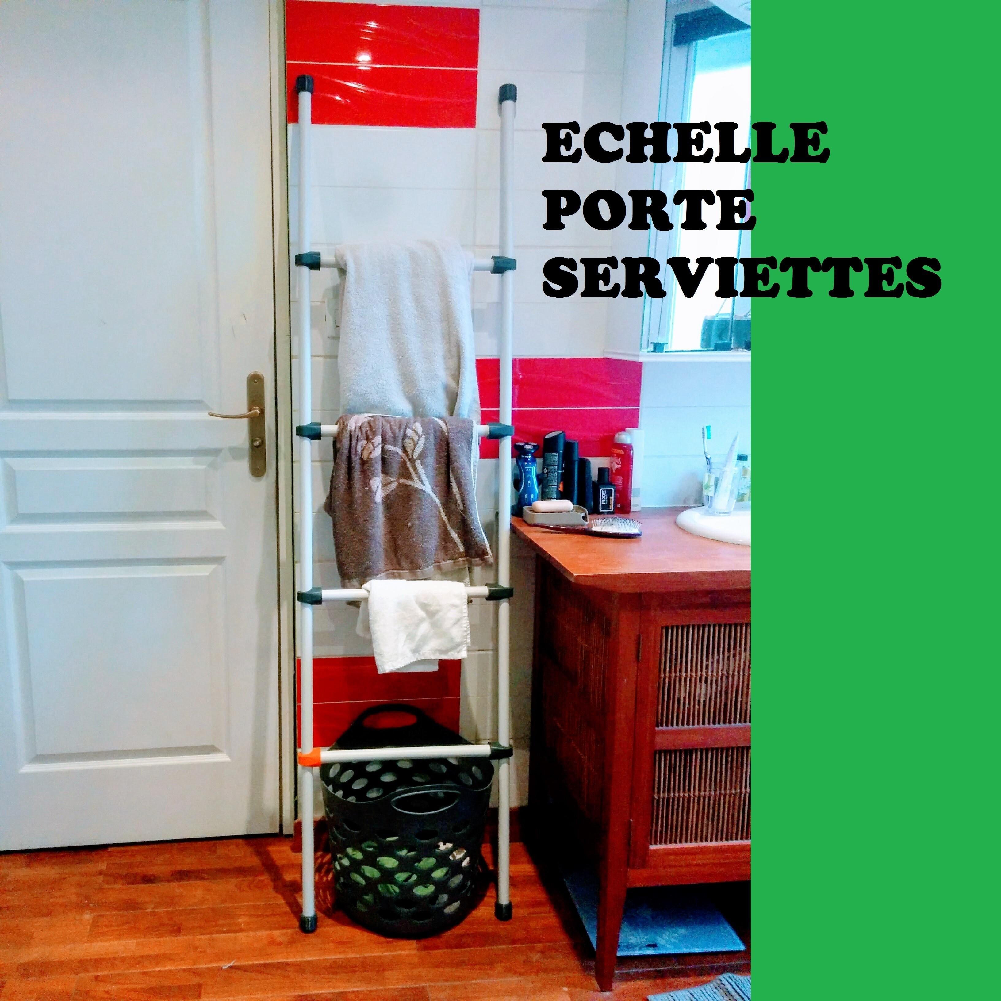 echelle porte serviettes.jpg Télécharger fichier STL gratuit Echelle porte serviettes • Plan imprimable en 3D, KaptainPoiscaille