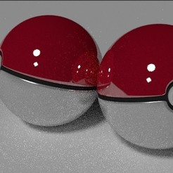 Poke Ball 3D model, Shai3D