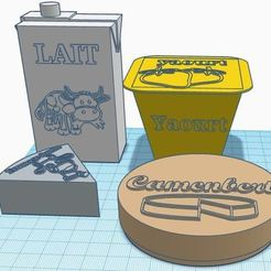cremerie.JPG Download free STL file Dinette for merchant: creamery and cheese. • 3D printing model, virgulle