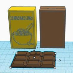 Download free 3D printing templates Dinner for marketer : Cereals and chocolate, virgulle