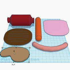 Viandes.JPG Download free STL file Dinette for merchant game: meat • 3D printable template, virgulle