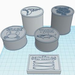 Conserves.JPG Download free STL file Dinette for marketer: grocery store • Design to 3D print, virgulle