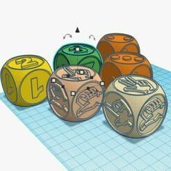 En semble de dés PS.JPG Download free STL file Maternity dice Quantities 1/2 and 1/2/3 • 3D printing model, virgulle