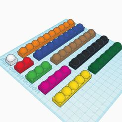 Free 3D printer model Montessori beads, virgulle