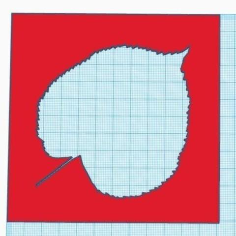 Descargar modelo 3D gratis 7 plantillas de hoja de árbol, virgulle