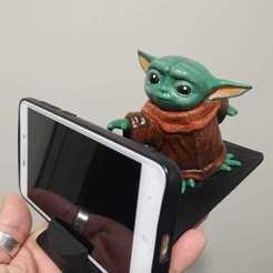 Download 3D printer designs Baby Yoda Cell Phone Holder, CMPereira